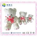 Einfacher weißer Plüsch-Mamma-Bär mit nettem kleinem Bären-Spielzeug