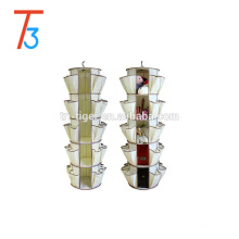 40 pockets 360 degree spinning hanging shoe and accessories organizer