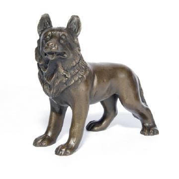Pet Home Deco Wolf Art Craft Dog Bronze Statue Sculpture Ydw-109