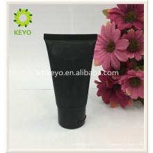 tubo cosmético cosmético vacío coloreado negro oscuro de la crema del embalaje del lujo
