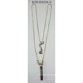 Simple Fashion with a Stone Pendant Necklace