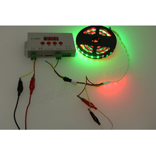 RGB que destella la tira del pixel led light controll K1000C led sd card dmx controller