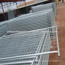 Clôtures de piscine soudées par treillis métallique et tube