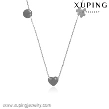43330-quality fashion jewelry silver color plated necklace chains