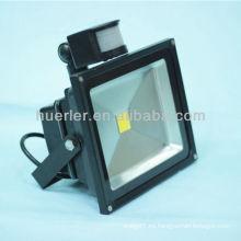 Buen precio ip65 al aire libre 12-24v 100-240v 50w llevó el reflector con el sensor 50w 2 años de garantía
