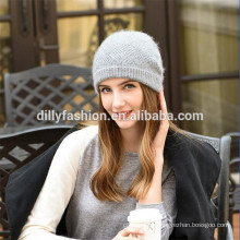 new arrival 100% cashmere cable knit hat knit beanie