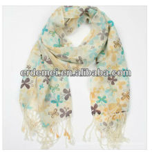 L'écharpe acrylique en cachemire imprimée de Lady
