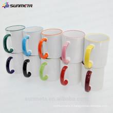 Tasse de transfert thermique Tasse en céramique de 11 oz, tasse de couleur Vente complète