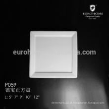 P059 JANTARES! Pratos de serviço de porcelana