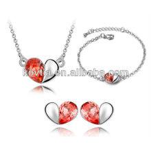 Wholesale new style heart shape bridal fashion jewelry set