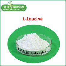 Pó fino de aminoácido L-leucina