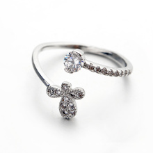 Fashion Butterfly Open Ring Fake diamond butterfly cz open ring for anniversary