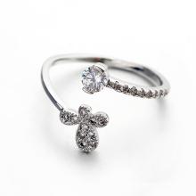 Модное бабочка открытое кольцо Фальшивая алмазная бабочка cz открытое кольцо для юбилея