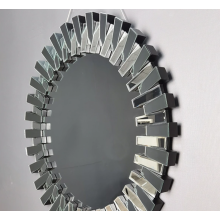 Glass hanging mirror for interior decoration