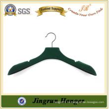 Pantalla PP Green no deslizante Velvet Cloth Hanger