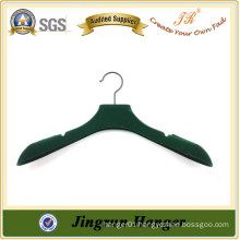 Display PP Green non slip Velvet Cloth Hanger