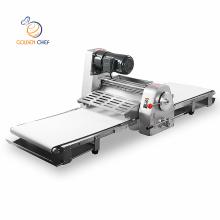 Electric croissant dough press machine automatic 380mm 520mm table top bread dough sheeter