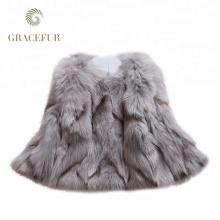 Good price real fox fur coat winter for woman