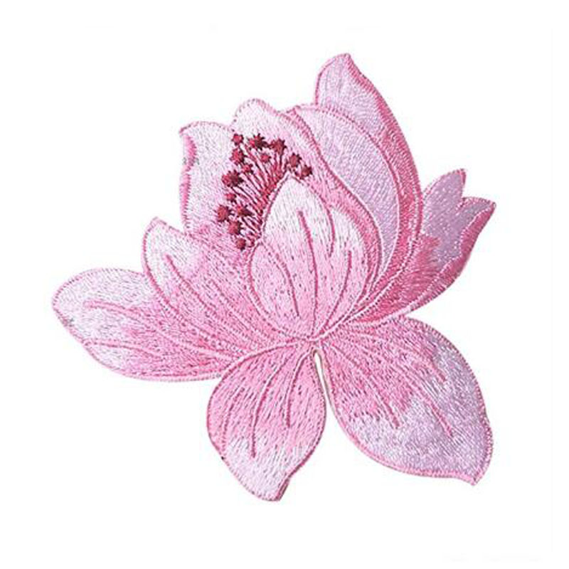 Lotus Clothing Embroidery Patch