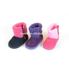 high quality soft kid suede boot shoes