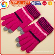 Coton Gant Arcylic Téléphone intelligent Gants d'écran tactile chaud à l'hiver Meilleur cadeau promotionnel