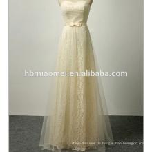 Bowknot ist langes hochwertiges Hochzeitskleid Spitze trägerloses Abendkleidliebe für immer Hochzeitskleid