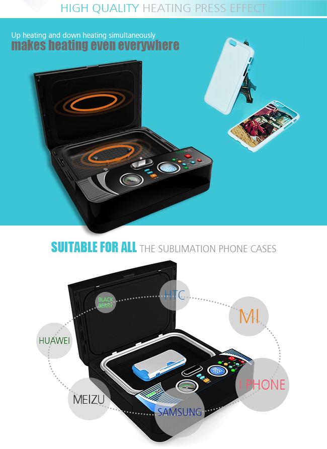 Mini 3D Sublimation Vacuum Phone Case Printing Machine