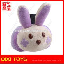 décorateur de bureau tête de lapin en peluche