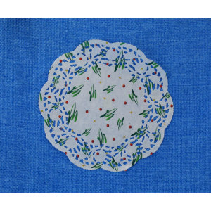 Round Paper Doily with Printing 22cm