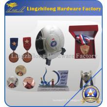 Médaille en métal faite sur commande de sports avec le support de ruban