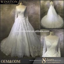 Nouvelle robe de mariée nuptiale personnalisée hijab personnalisée