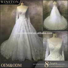 New Design Custom Made hijab muslim bridal wedding dress