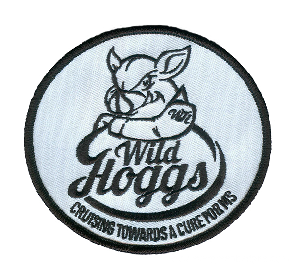 Wild Hoggs Round Shape Sew on Embroidered Badge