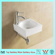 Fashion Design Square Shape White Ceramic Hand Wash Basin