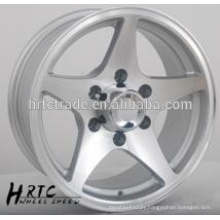 HRTC Durable replica chrome car wheel rim14~16 inch 5 hole wheel rim