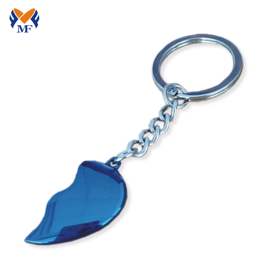 Heart Shape Metal Keychain
