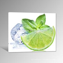 Impresión congelada de la lona de la lona del limón / impresión de la lona de la foto de la fruta / pinturas baratas de la lona de Dropship