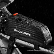Rockbros Mountain Bike Bag Front Beam Bag Cycling Touch Screen Mobile Phone Bag 039bk