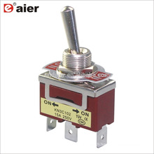 KN3C-103P 12MM 15A 250V 3Pin ON OFF ON 3 Position SPDT Toggle Switch
