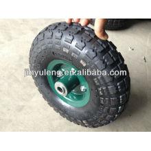 10 pulgadas carro 4.10/350-4 piezas, equipo de carretilla, rueda de goma inflable, puede usar la rueda neumática para carretilla de césped