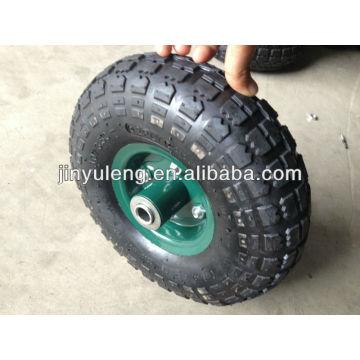 10 Zoll 4.10/350-4 Wagen Teile, Barrow Ausrüstung, aufblasbare Gummirad, pneumatisches Rad kann für Rasen Schubkarre