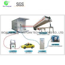 Système hydraulique de ravitaillement de la semi-remorque de la station-métrage CNG