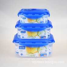 3 in 1 Airtight Microwave Plastic Food Container Storage Box