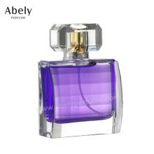 50ml la meilleure bouteille en verre de luxe de luxe de vente avec le parfum original