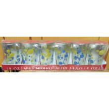 High Quanlity Gute Glas Cup Set Abziehbild Wasserschale Kb-Hn08167