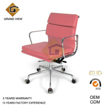 Couro rosa clássica Eames cadeira do gerente (GV-EA217)