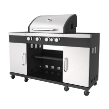 Four Burner Gas Outdoor Grills With Side Burner