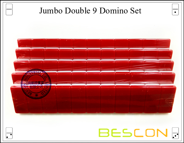 Jumbo Double 9 Domino Set-6