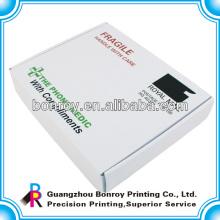 kundengebundene weiße Pappschachtel, gewölbter Kartonkasten
