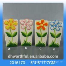 Humidificateur d'air céramique créatif avec motif fleur